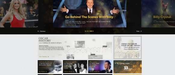 Homepage – The Oscars 2012